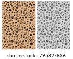 seamless micro bone structure... | Shutterstock .eps vector #795827836
