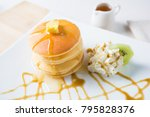butter pancake with syrup | Shutterstock . vector #795828376
