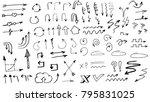 tribal doodle hand drawn vector ... | Shutterstock .eps vector #795831025