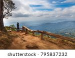 traveling active lifestyle and... | Shutterstock . vector #795837232