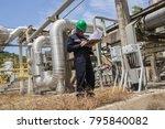 male worker inspection visual... | Shutterstock . vector #795840082