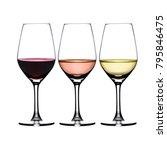 3 Glasses Wine Red Rose - Fine Art prints