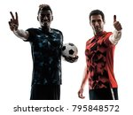 two soccer players men in... | Shutterstock . vector #795848572
