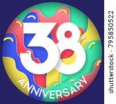 38 years anniversary logo... | Shutterstock .eps vector #795850522