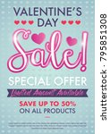 valentine's day sale special...   Shutterstock .eps vector #795851308
