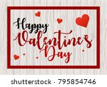 valentines day vector... | Shutterstock .eps vector #795854746