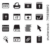 solid black vector icon set  ... | Shutterstock .eps vector #795858892