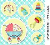 illustration o baby related... | Shutterstock .eps vector #79586338