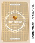 vintage creative card template... | Shutterstock .eps vector #795864946