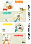 time for travel concept... | Shutterstock .eps vector #795866905