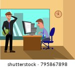 business person working on... | Shutterstock .eps vector #795867898