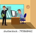 business person working on... | Shutterstock . vector #795868462