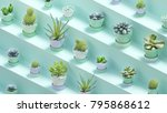3d rendering of many realistic... | Shutterstock . vector #795868612