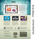 website design template   Shutterstock .eps vector #79587376