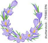 spring flower vignette of... | Shutterstock .eps vector #795881596