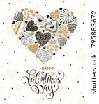 happy valentines day greeting... | Shutterstock .eps vector #795883672