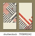 set of cards with art deco... | Shutterstock .eps vector #795890242