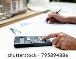 architect engineer design... | Shutterstock . vector #795894886