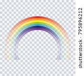 abstract  rainbow cartoon on ... | Shutterstock .eps vector #795896212