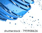 3d striped decorative balls.... | Shutterstock . vector #795908626