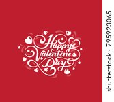 valentines day text vector... | Shutterstock .eps vector #795923065