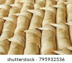 close up rows of natural woven... | Shutterstock . vector #795932536