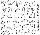 arrow doodles vector. a set of... | Shutterstock .eps vector #795938695