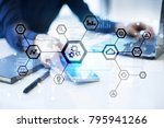 iot  automation  industry 4.0.... | Shutterstock . vector #795941266