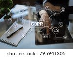 gdpr. data protection... | Shutterstock . vector #795941305