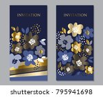 luxury concept floral pattern... | Shutterstock .eps vector #795941698