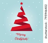 merry christmas greeting card... | Shutterstock .eps vector #795946402