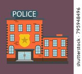 a small police station | Shutterstock .eps vector #795948496