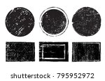 grunge stamps collection... | Shutterstock .eps vector #795952972