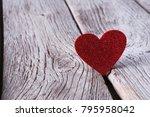 Valentine Background With Red...