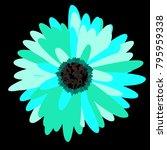 vector flower for tablecloth ... | Shutterstock .eps vector #795959338