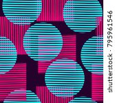 neon seamless abstract pattern... | Shutterstock .eps vector #795961546