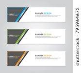 banner background modern vector ... | Shutterstock .eps vector #795964672