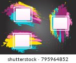 set of abstract  geometric... | Shutterstock .eps vector #795964852
