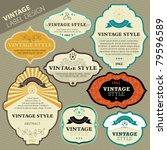 vector vintage label set | Shutterstock .eps vector #79596589