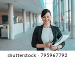 portrait of a successful... | Shutterstock . vector #795967792