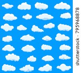clouds set isolated on blue... | Shutterstock .eps vector #795968878