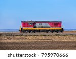 locomotive is moving the... | Shutterstock . vector #795970666