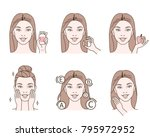 beauty fashion girl take... | Shutterstock .eps vector #795972952