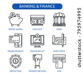 banking and finance line icons... | Shutterstock .eps vector #795974995