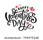 happy valentines day hand drawn ... | Shutterstock .eps vector #795975148