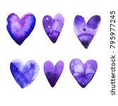 set of vector hearts in...   Shutterstock .eps vector #795977245