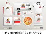 pizza delivery corporate brand... | Shutterstock .eps vector #795977482