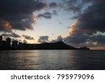 silhouette of waikiki | Shutterstock . vector #795979096