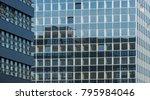 abstract facade of a modern... | Shutterstock . vector #795984046