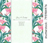 floral borders. snowdrop...   Shutterstock .eps vector #795984976